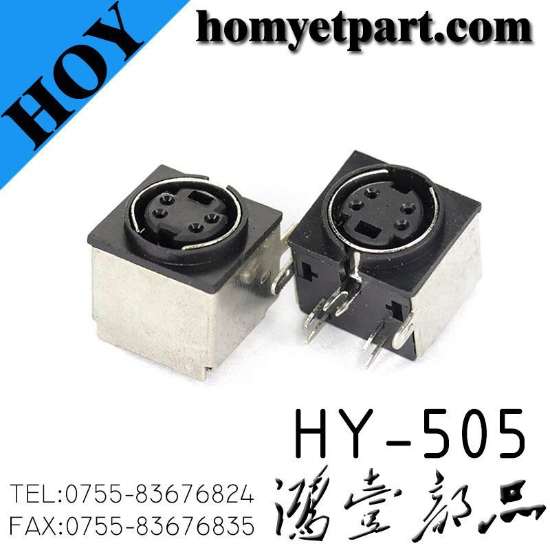 Plug in type 5p half package S-Video with positioning terminal block HY-505
